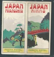 Superbe Dépliant Touristique De Fujiya Hotel Miyanoshita Et Kanaya Hotel Nikko ( Année 1918 D'après L'archive ) Mald69 - Tourism Brochures
