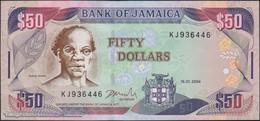 TWN - JAMAICA 79e - 50 Dollars 15.1.2004 Prefix KJ - Signature: Latibeaudiere UNC - Jamaique