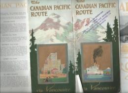 """Important Dépliant Touristique Vers 1920 ( 60 Pages ) """" The Canadian Pacific Route """"   Mald70 - Dépliants Touristiques"""