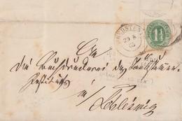 Schleswig-Holstein Brief EF Minr.9 K2 Bredstedt 29.8.65 Gel. Nach Schleswig - Schleswig-Holstein