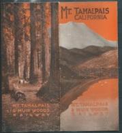 Dèpliant Touristique De 1917 , Mt. Tamalpais California & Muir Woods Railway  Mald71 - Tourism Brochures