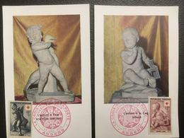 FRANCE - Angers - 1955 - Croix Rouge Française - 2 Cartes Cf Scan - Cartas Máxima