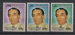 Liban - 1981 - N°Yv. 280 à 282 - President Sarkis - Neuf Luxe ** / MNH / Postfrisch - Lebanon