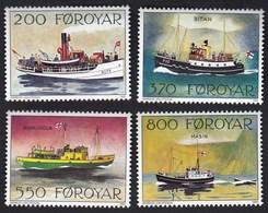 Faroe Islands 1992 / Post Boats / Ships: Ruth (1908), Ritan (1949), Sigmundur (1942), Masin / Mi 227-230 /MNH - Ships