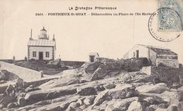 PORTRIEUX St QUAY(22)1910-débarcadère Au Phare De L'ile Harbour - Pontrieux