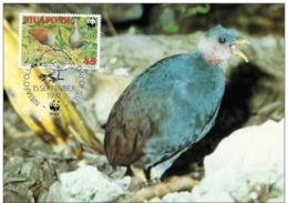 Niuafo'ou : CM Carte Maximum WWF Oiseau Megapodius Pritchardii Megapode Grossfusshuhn - Tonga