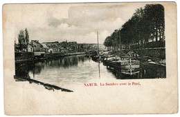 Namur - La Sambre Avec Le Pont - Péniches - 2 Scans - Namur