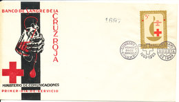 Colombia FDC 1-5-1963 RED CROSS With Cachet - Colombia
