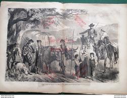 1862 ESPAGNE - PAYSANS D'OSSUNA SE RENDANT À LA FOIRE DE RONDA - Newspapers