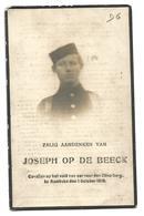Doodsprentje Soldaat 1e Regiment Grenadiers Putte Bij Mechelen + Rumbeke 1918 - Santini