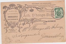 Berlare - Deelgemeente Overmere - Postwaardestuk Uit 1936 Verstuurd Naar Geraardsbergen - Cartes Illustrées