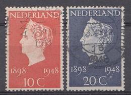 Pays-Bas 1948  Mi.nr. 507-508 Königin Wilhelmina   Oblitérés / Used / Gestempeld - Gebraucht