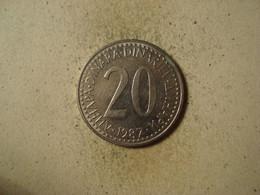 MONNAIE YOUGOSLAVIE 20 DINARS 1987 - Joegoslavië