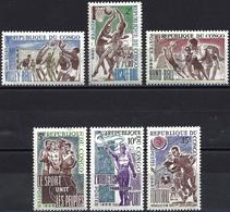 Congo (Braz) 1966 - Mi 96/102 - YT 190/95 ( Sports ) MNH** - Complete Set - Congo - Brazzaville