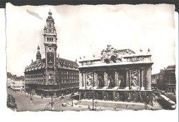 Lille. Place Du Théâtre. L'Opéra Et La Bourse. à Mme Crépin. Collection G. Latigny. 1961. Photographie Véritable . - Lille