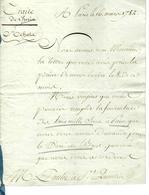 1782 ACCORD COMMERCIAL Avec Signatures PARIS Pour Paulet St Quentin SACS A PAIN TOILE ET TREILLIS  8.000 PIECES - ... - 1799
