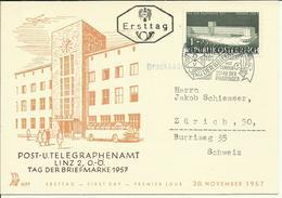 1957  Tag Der Briefmarke  Mit Stempel Sonderschau Der Pfadfinder - Brieven En Documenten