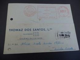 Postal Publicitário: Thomaz Dos Santos, Ld - Caldas Da Rainha - Cartes De Visite