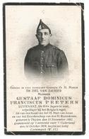 Doodsprentje Officier 10e Linieregiment Tielen Bij Kasterlee + Kortemark 1918 - Andachtsbilder