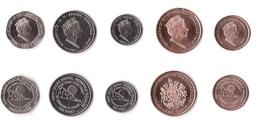 Gibraltar - Set 5 Coins 1 2 5 10 20 Pence 2017 - 2018 Comm. UNC Lemberg-Zp - Gibilterra