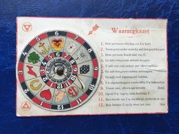 """Cpa à Système--""""Carte De Divination----Waarzegkaart""""--(1733) - Jeux Et Jouets"""