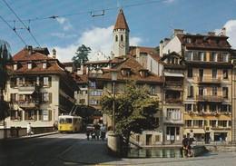 Thun, Lauitor, Schlosskirche, Trolleybus; Autobus - BE Berne