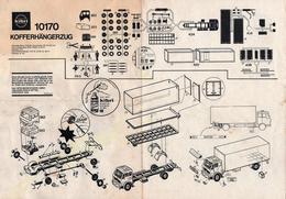 Plan & Notice De Maquette Kibri 10170 - Kofferhängerzug Mercedes Benz 1632/48 - Planches & Plans Techniques