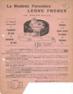 Document Dactylographiée De La Roulette Forestière LÈBRE FRÈRES De Salon B Du Rh - France