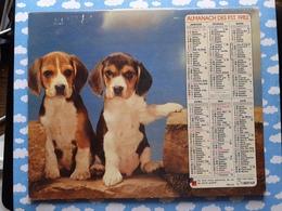 CALENDRIER DU FACTEUR ALMANACH CHIEN 1982 - Calendriers