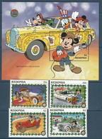 REDONDA - BLOC +Série ** (1990)  Automobiles - DISNEY - - Disney