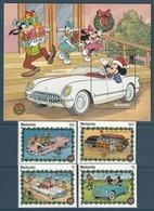 REDONDA - BLOC +Série ** (1989)  Automobiles - DISNEY - - Disney