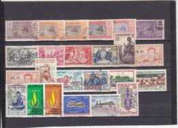 UN LOT DE 24 TIMBRES  OBLITERES DONT MULTIPLES AVANT INDéPENDANCE PUIS APRèS INDéPENDANCE - Mauritania (1906-1944)