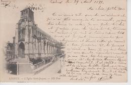 CPA Précurseur Lisieux - L'église Saint-Jacques (voyagé En 1899) - Lisieux