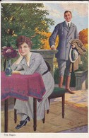 AK Künstlerkarte Fritz Hagen - Na, Sei Doch Wieder Gut - Liebespaar - Ca. 1910 (48090) - Altre Illustrazioni