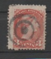 """Canada N°30, Oblitération """"cible!!"""" - 1851-1902 Regno Di Victoria"""