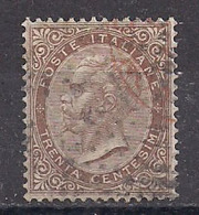 REGNO D'ITALIA 1863-65 CIFRA O EFFIGE DI VITTORIO EMANUELE II SASS. 19  USATO VF - Usados