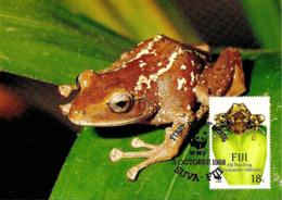 1988 - SUVA FIJI Fidji - Fiji Tree Frog - Grenouille Forestière - Réel Timbre Collection (Real Stamp) - Fidji