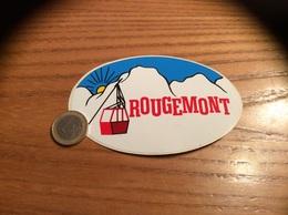 AUTOCOLLANT,sticker «ROUGEMONT (25)» (téléphérique) - Aufkleber