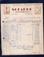 LAC OU VILLERS (Doubs) Facture Illustrée -SOFRADOR - Société De Fabrication Et D'Extension Horlogerie - France