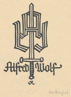 Ex Libris Alfred Wolf - Otto Reichert (clichée) - Exlibris