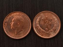 """Samoa 2 Sene """" F.A.O."""" 2000 Km122 UNC COIN Münzen King Ozeanien - Samoa"""