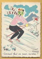 C.P.M. Bernard Aldebert - Le Ski - Autres Illustrateurs