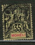 MOHELI          N°  YVERT  :  9   ( 1 )    OBLITERE       ( Ob   5/17 ) - Oblitérés