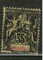 MOHELI          N°  YVERT  :  9   ( 2 )    OBLITERE       ( Ob   5/17 ) - Oblitérés