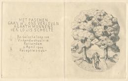 Verlovingskaart Agaath Monnens & Louis Scholte -  Ets - Verlobung