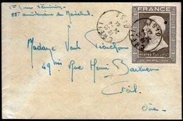 N°606 Oblitéré CREIL (oise) Sur LSC Du 24/4/1944, 1°jour D'émission ! - FDC