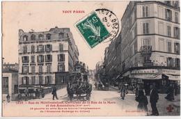 TOUT PARIS-RUE DE MENILMONTANT.CARREFOUR DE LA RUE DE LA MARE - Arrondissement: 20