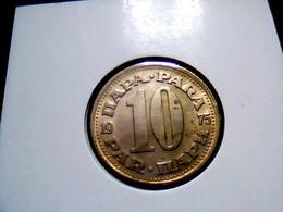 Yugoslavia KM 44    10 Dinara 1975 - Yugoslavia