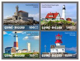 GUINEA BISSAU 2020 MNH Lighthouses Leuchttürme Phares 4v - OFFICIAL ISSUE - DH2010 - Lighthouses
