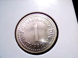 Yugoslavia KM 142    1 Dinar 1990 - Yugoslavia